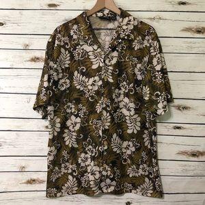 ODO Green Mesh Hawaiian Shirt XL